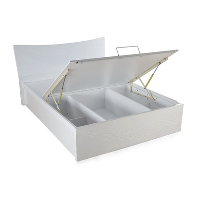 Vienna Queen Bed with Storage (White)