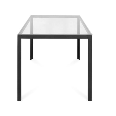 Vivian Six Seater Glass  Dining Table  (Clear)