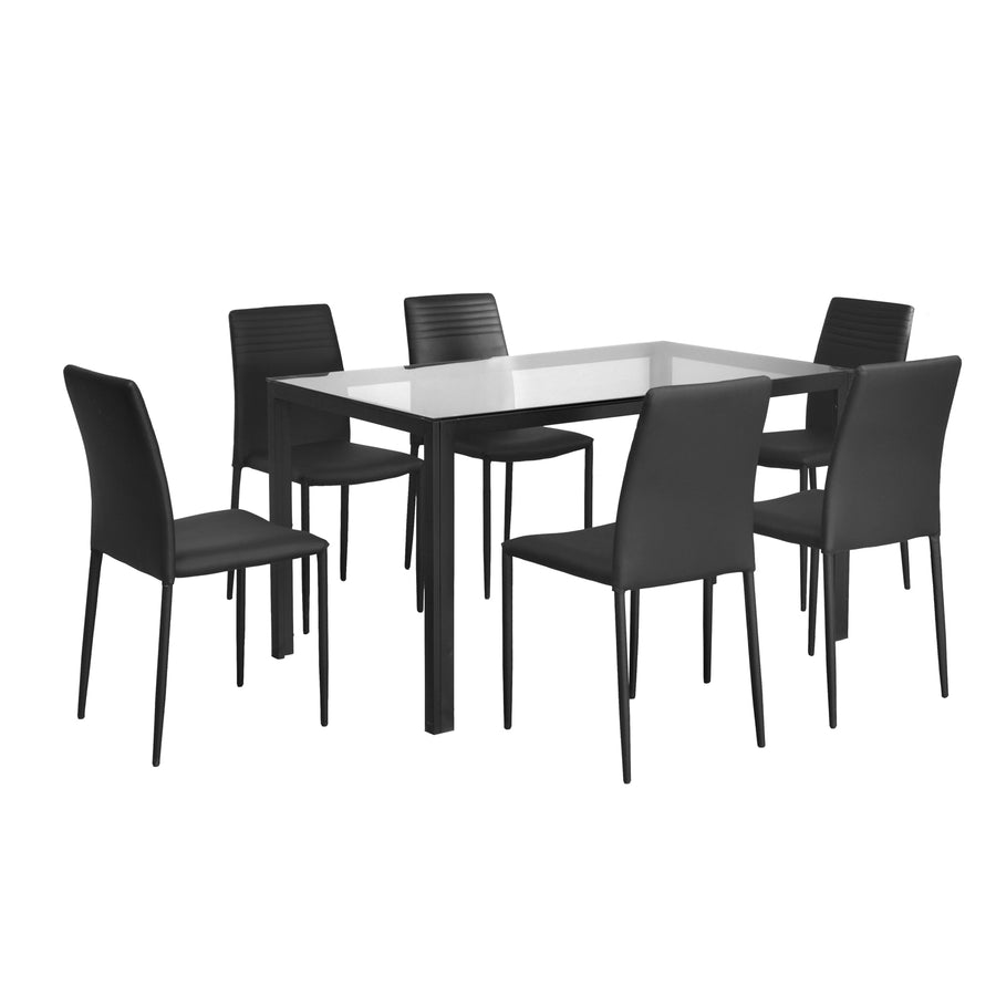 Vivian Six Seater Dining Set ( Clear)