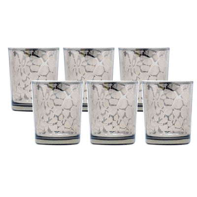 Animal Print Glass Votive Set of 3 (Brown)