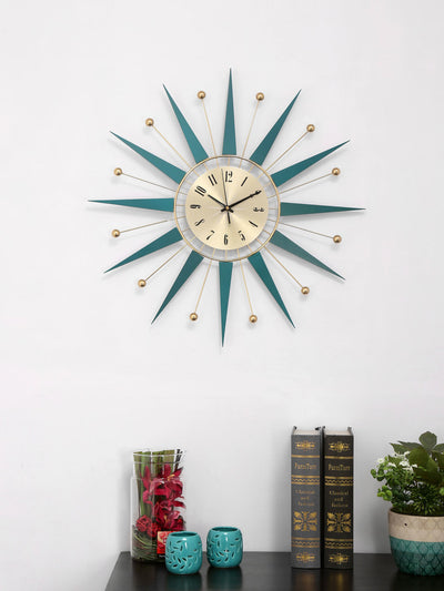 Zeus Wall Clock, Sea Green