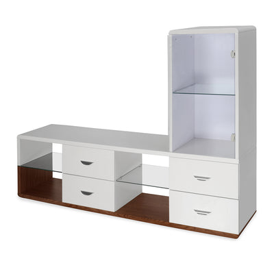 Walt Low Height Wall Unit (Walnut)