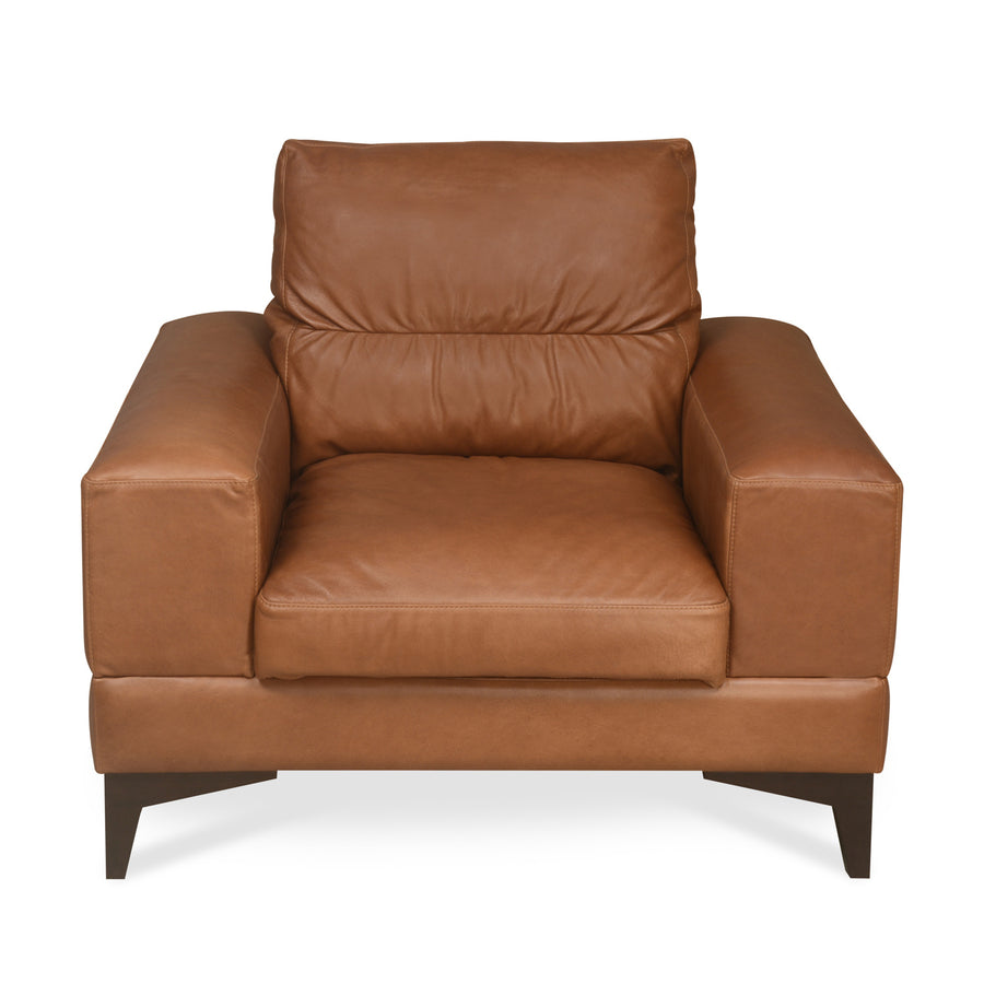Willis One Seater Sofa (Tan Brown)