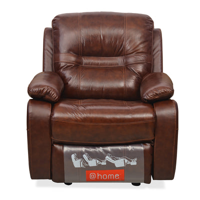 Wilson 1 Seater Sofa With Rocker Recliner (Caramel)