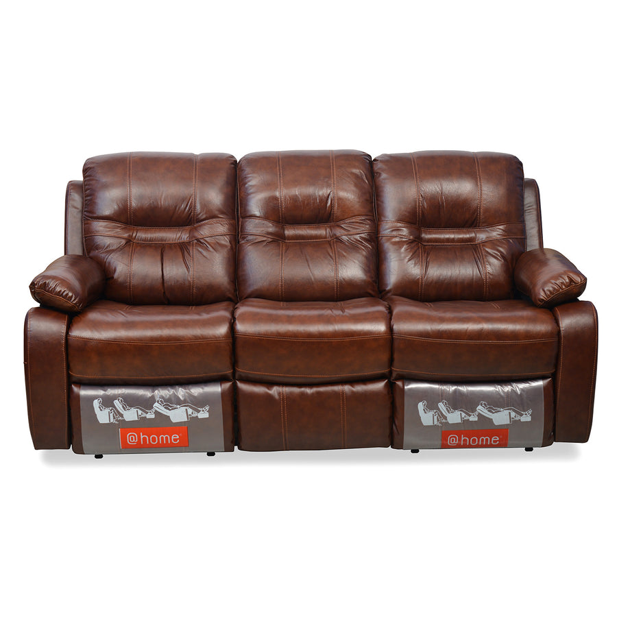 Wilson 3 Seater Sofa With 2 Manual Recliners (Caramel)