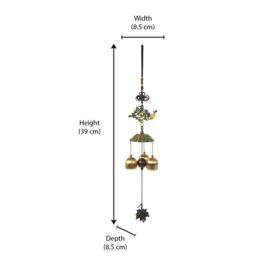 Peacock Trunk Hanging Windchime (Multicolor)