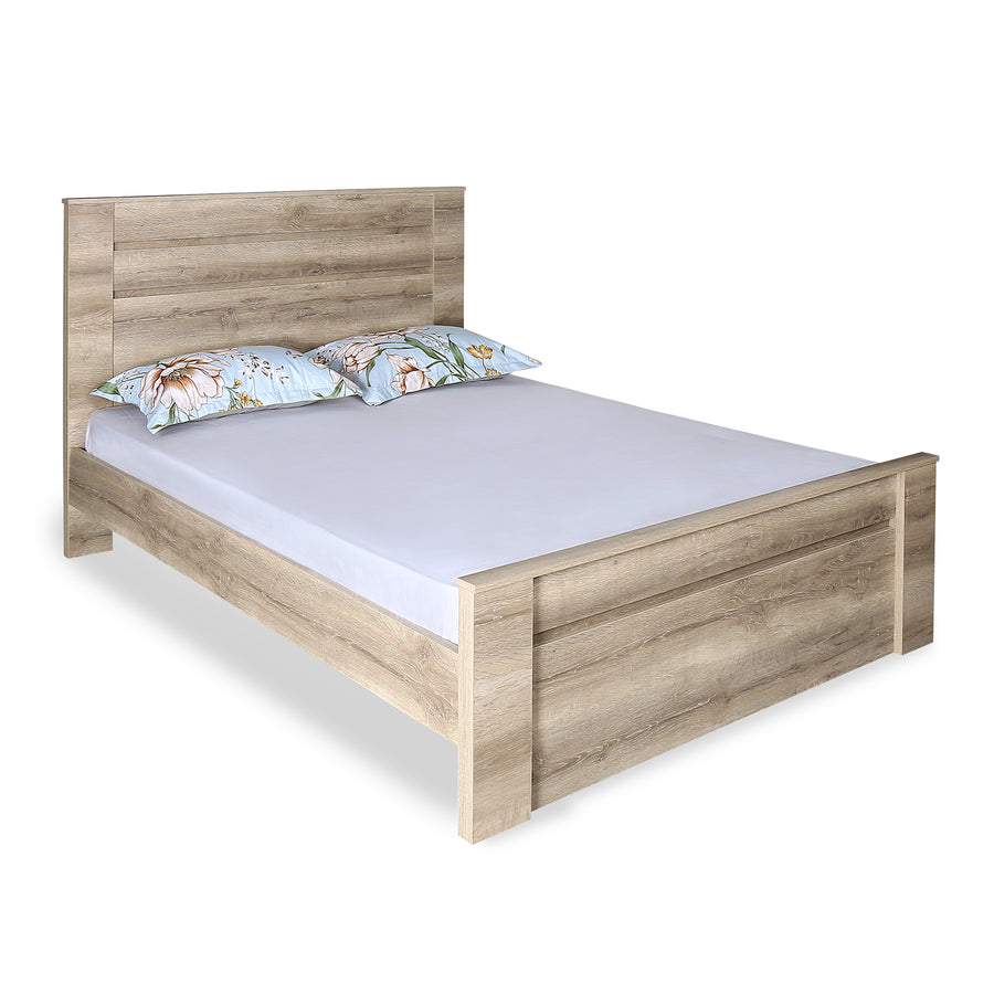 Won Queen Bed Without Storage  (Dark Walnut)