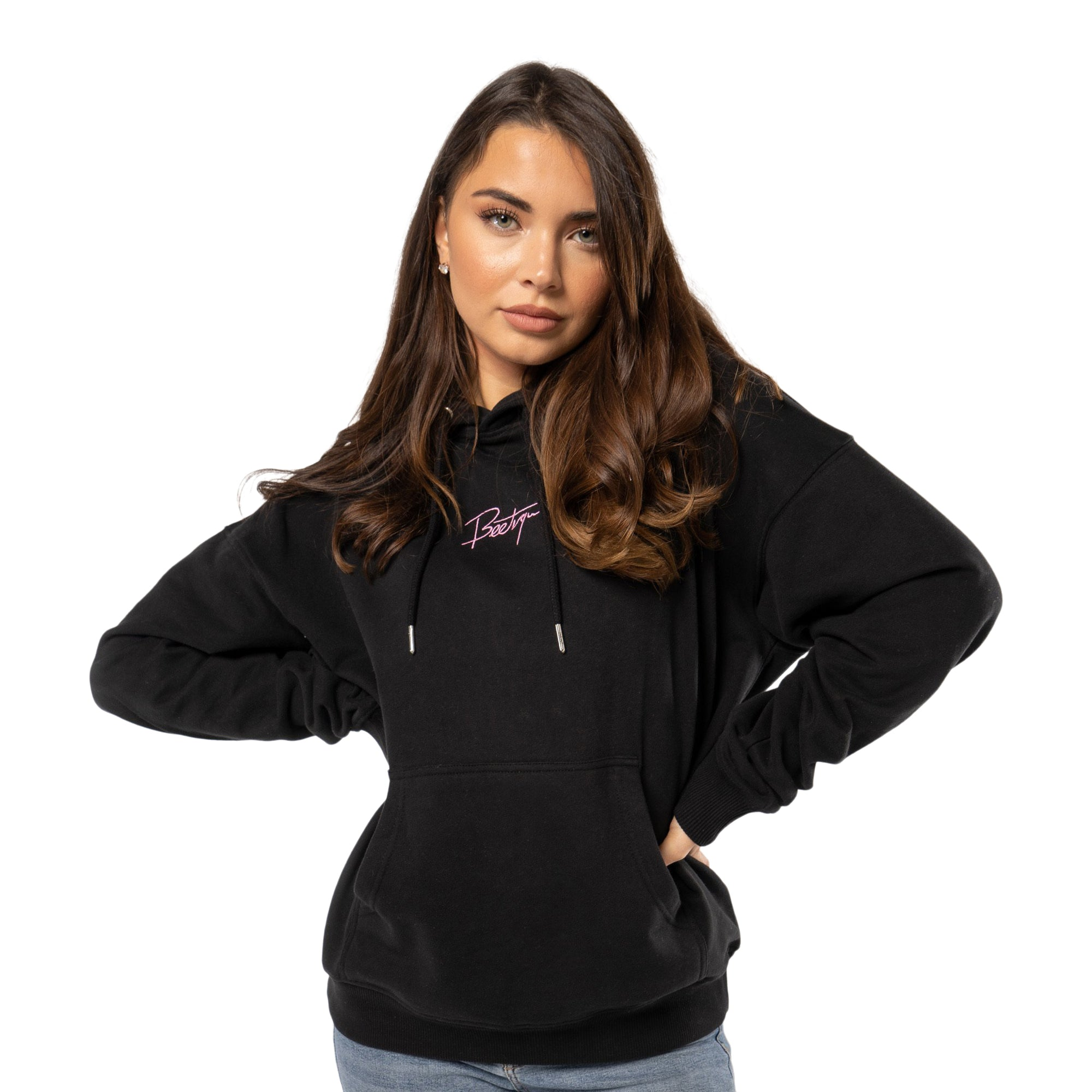 Beetique Basic Hoodie Black I 100% Baumwolle I Kosmetik- und Make Up Brand