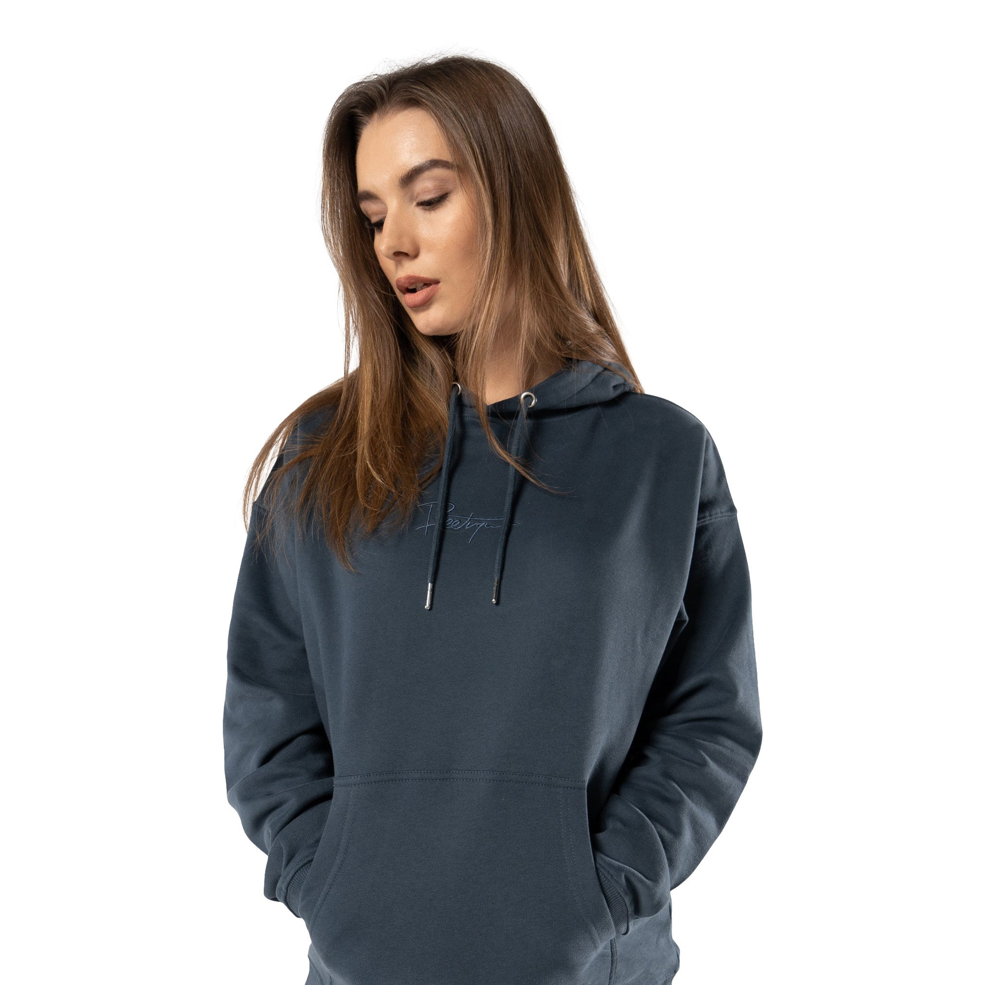 Beetique Basic Hoodie Deep Blue I 100% Baumwolle I Kosmetik- und Make Up Brand
