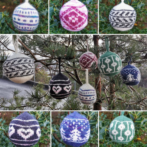 Christmas Ornaments Pattern Only -  Digital Pattern in English/Norwegian