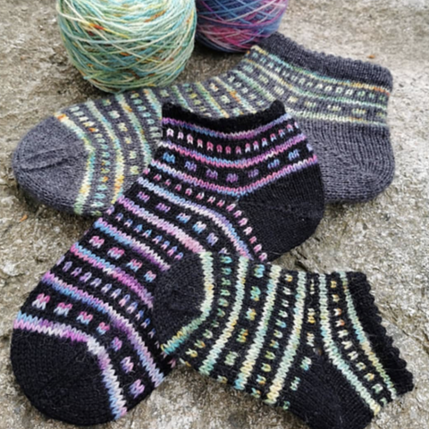 All that Jazz Socks Pattern Only -  Digital Pattern in English/Norwegian - Norwegian design