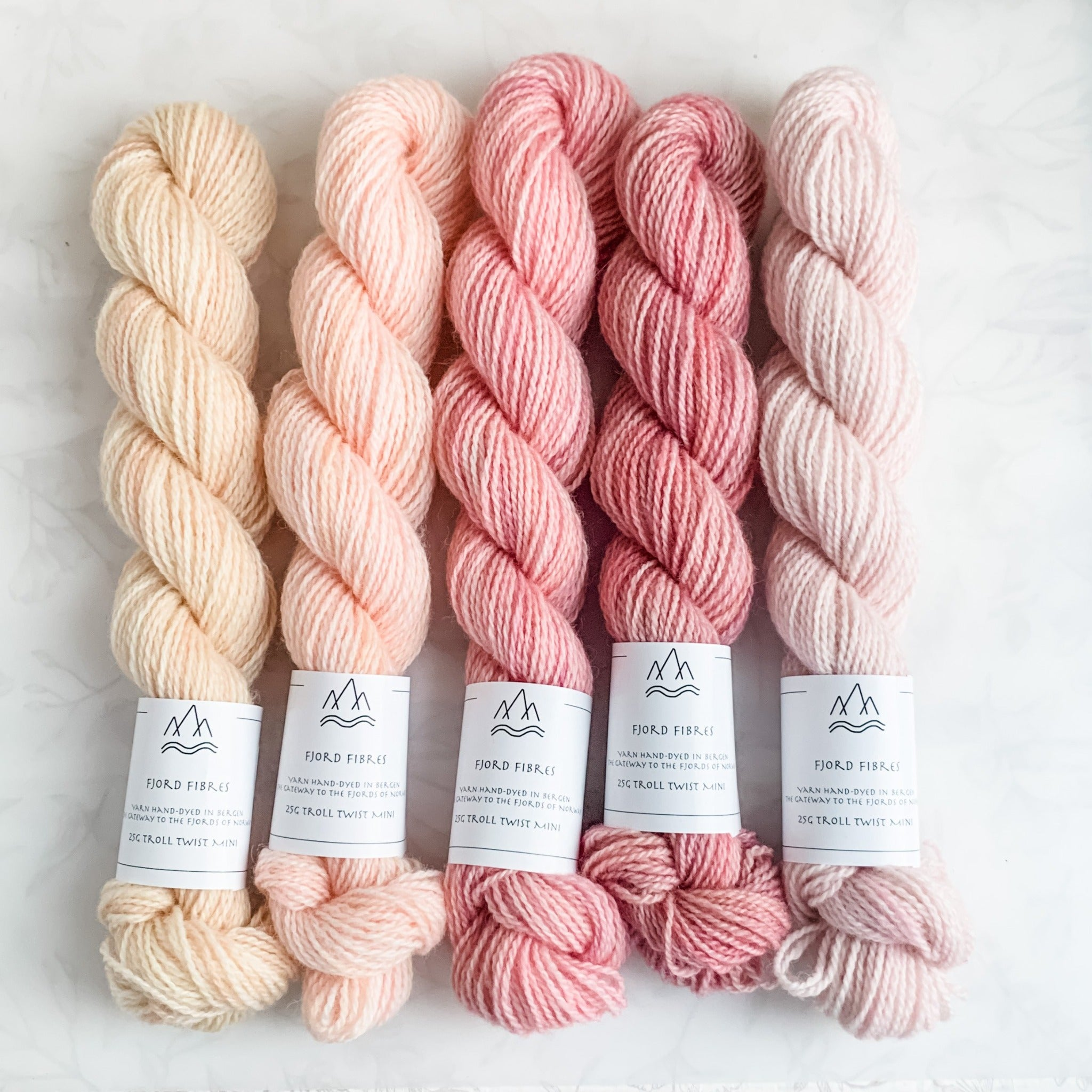 Rose Garden Mini Skein Set - Trollfjord Sock - Hand Dyed Yarn - Variegated Yarn