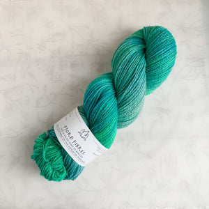 Fjord Wondering # 18 - Trollfjord sock - Hand Dyed Yarn - Variegated Yarn