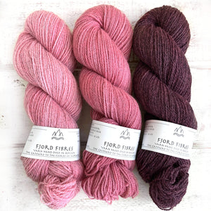 All the Pinks Gradient Set - Trollfjord Sock - Variegated Yarn - Hand dyed yarn