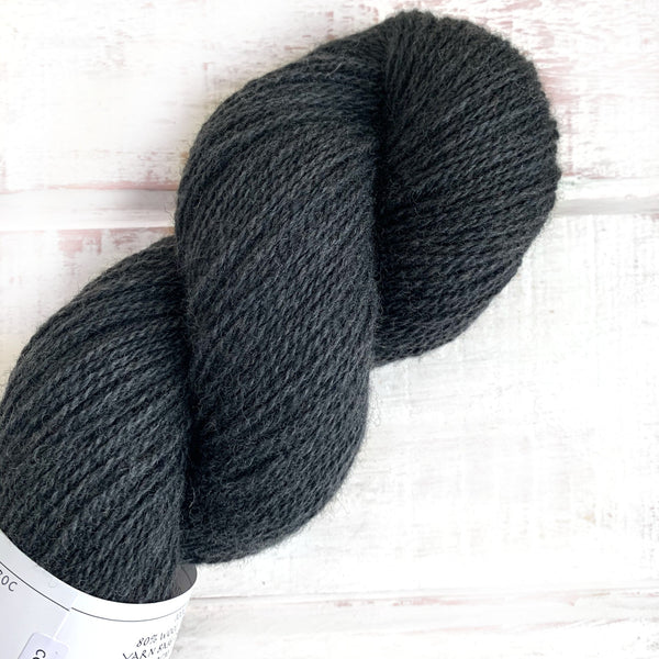 Coal Dust - Trollfjord Sock - Hand Dyed Yarn - Tonal Yarn