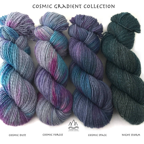 Cosmic Gradient Set - Trollfjord Sock - Variegated Yarn - Hand dyed yarn