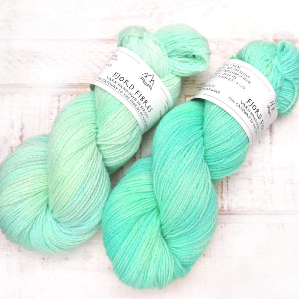 Sea Breeze - Trollfjord Sock - Hand Dyed Yarn - Tonal Yarn