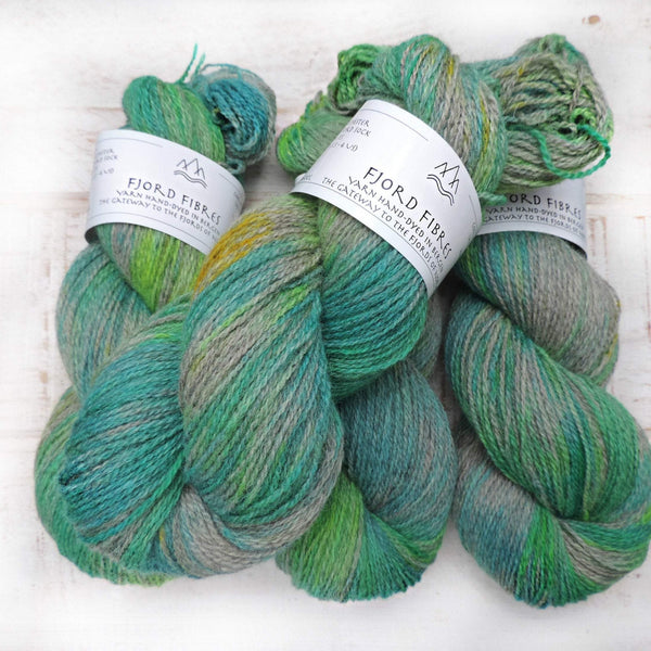 Woodlands in Spring - Trollfjord sock - Hand Dyed Yarn - Variegated Yarn