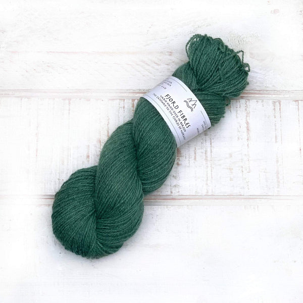 Malachite - Trollfjord Sock Grey Base- Hand Dyed Yarn - Tonal Yarn