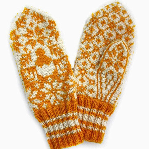 Little Chicken Mittens Pattern Only -  Digital Pattern in English/Norwegian - Norwegian mittens - Norwegian design