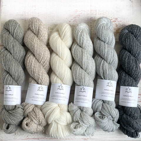 Natural undyed yarn mixed set -Trollfjord Sock - Undyed Yarn