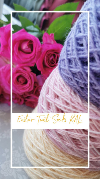 Easter Twist KAL Thin edition - Pattern Only -  Digital Pattern in English/Norwegian - Norwegian design