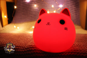 Squishy Silicone Kitty Night Lamp