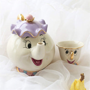 Beauty and the Beast Mrs Potts and Chip Teapot Set