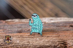 Sloth Party Animal Steel Geeky Pin