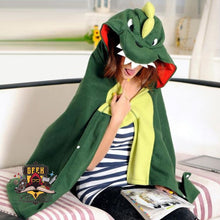 Soft Dino Hooded Blankets
