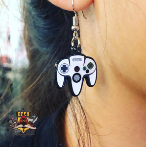 Nintendo 64 Controller Earrings Earrings