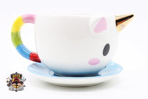 Unicorn Teacup And Saucer Mugs