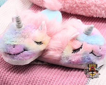 Furry Unicorn Slippers