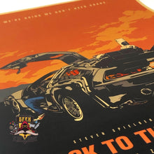 Back to the Future Kraft Paper Poster