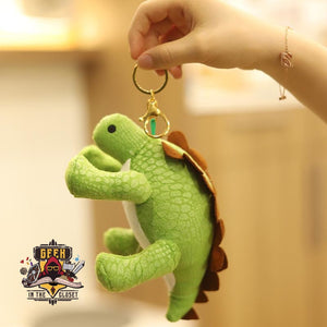 It's Okay Not to be Okay Stegosaurus Plush Keychain
