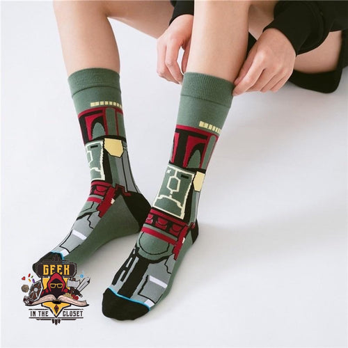Star Wars Boba Fett Long Socks
