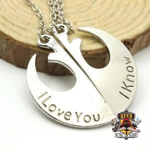 Star Wars Couple Necklace Set