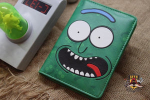 Pickle Rick Passport Cover Holder