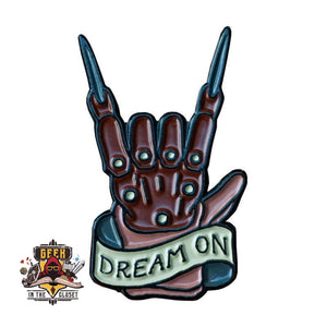 Nightmare on Elm Street Freddy Krueger Dream On Geeky Steel Pin