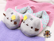 Mermaid Pusheen House Slippers