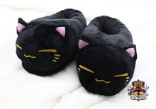 Black Cat Slippers