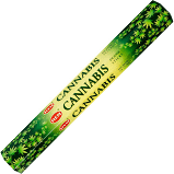 "Cannabis Incense Sticks, Hex Pack, 16"" Long"