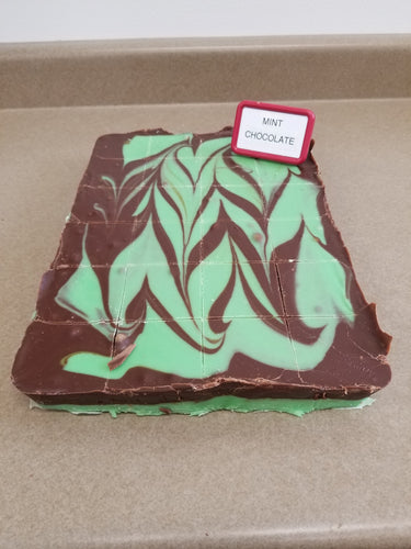 Mint Chocolate Swirl Fudge (1/2 Pound)