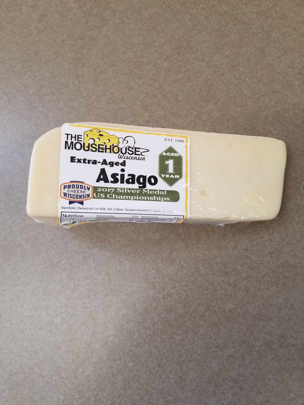 Asiago, Extra Aged -  Approx wt. 7 Ounces
