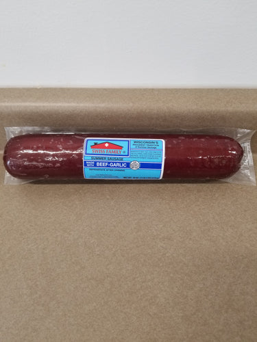 Swiss Family Beef Garlic Summer Sausage, 18oz