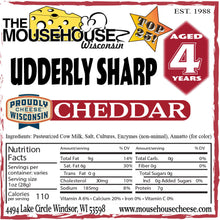 Load image into Gallery viewer, 4 Year Old Udderly Sharp WHITE Cheddar