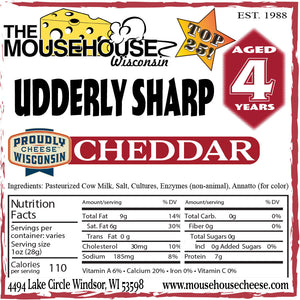 4 Year Old Udderly Sharp WHITE Cheddar