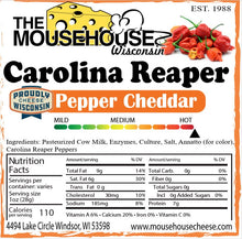 Load image into Gallery viewer, Carolina Reaper Pepper Cheddar