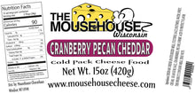 Load image into Gallery viewer, Cranberry & Pecan Cheddar Spread, 15 oz