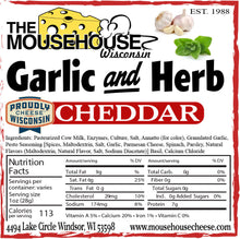 Load image into Gallery viewer, Garlic & Herb Cheddar